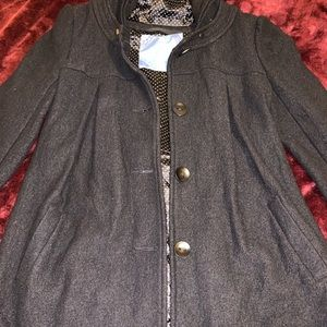 Free People Button Down Hoodie Coat